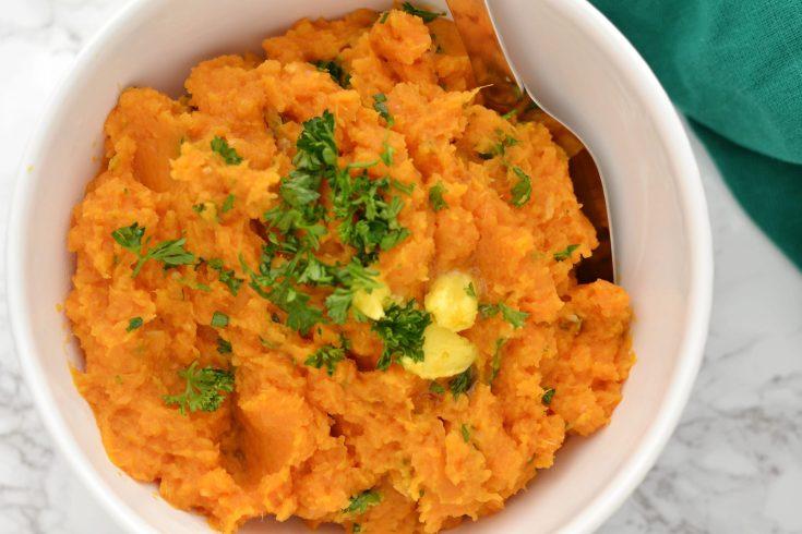 Garlic Mashed Sweet Potatoes (AIP/Paleo/Whole30)
