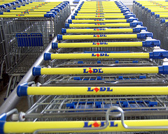 Lidl trolleys. Pic: Robert Wallace