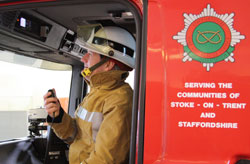 Peter Dartford tests out the new Airwave equipment