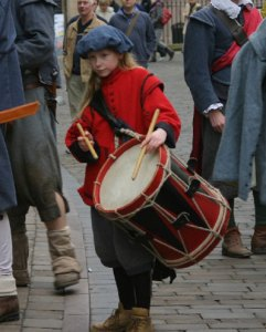 A drummer girl in traditional costume. Pic: Sam Ackroyd