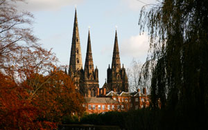 Lichfield Cathedral. Pic: Tom Allwood
