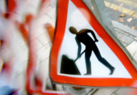 Roadworks sign. Pic: Caro's Lines