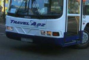 An A2Z Travel bus