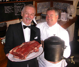 Professor Roland Rotherham and Master Chef Simon Smith