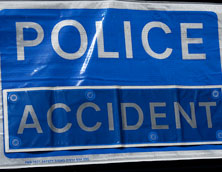 Police accident sign. Pic: Anthony Grimley
