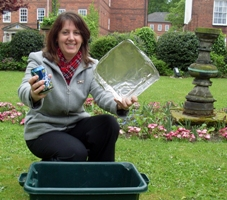 Christine Cole from Lichfield District Council with her recycling