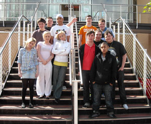 Some of the South Staffordshire College L3 Business Course students who will be helping out