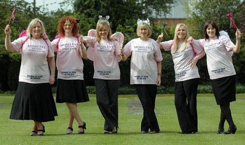 Moseleys Solicitors team members Jane Hardie, Vicki Ellis, Dominique Appleby, Tracey Kilcoyne, Erica Burt-Moore and Rachel Bailey