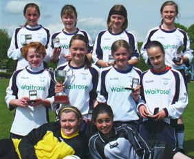 The successful Lichfield Diamonds under-13 side