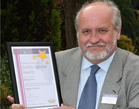 Gary Clives with his award
