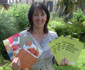 Lichfield District Council's Recycling & Street Scene Development Officer Christine Cole