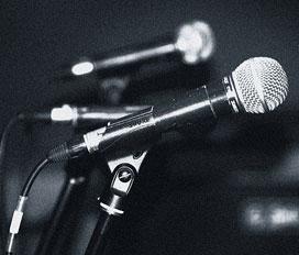 Microphones. Pic: Tengku Iskandar Zulkarnain