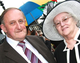 Dr Neville Brown and his wife Brenda