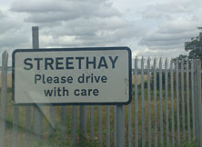 Streethay sign