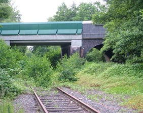 Bridge over the former Lichfield to Walsall railway line at Pipehill. Pic: Dawntreader
