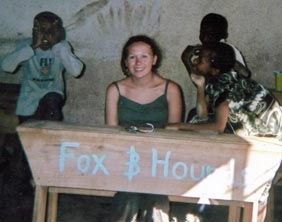 Amy Mullins with the Fox & Hounds sponsored desk