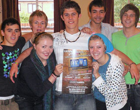 Members of the Lichfield Garrick Youth Theatre cast