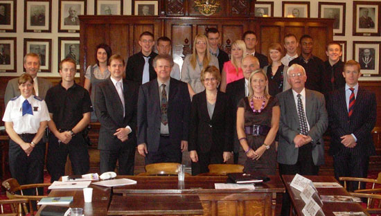 Participants in the special question time event at Lichfield District Council