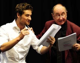 Rob Pass with Gerry Hinks in rehearsals