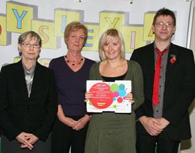 Fulfen Primary School receive their award