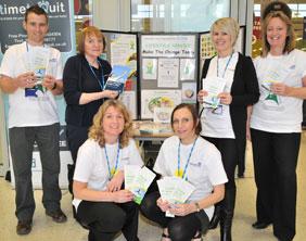 Neil Redpath, Maureen Shaw, Jane Reilly, Jade O'Sullivan, Pauline Evans and Karen Bevan from South Staffordshire PCT's Lifestyle Team