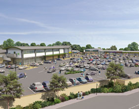 An artist's impression of the new Connah's Quay development