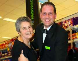 Doreen Winter from the Boley Park Modern Sequence Dance Group with Gary Brooks