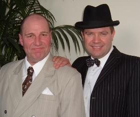 Paul Roberts as Al Jolson and Paul Lumsden as Frank Sinatra