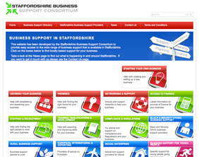 The Staffordshire Business Support Consortium website