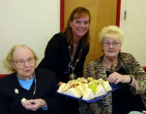The Sheriff's Lady, Mrs Lesley Price, with Marion Johnson and Daisy Bright