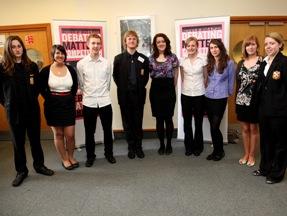 Members of the King Edward VI School debating team
