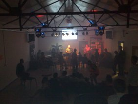 A band night takes place in the revamped hall at Redwood Park