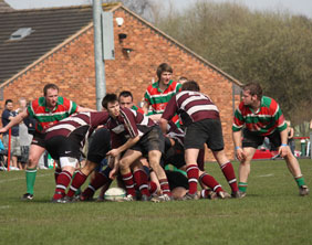 Action from Burntwood RUFC v Tamworth RUFC. Pic: Joanne Gough