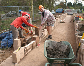 Volunteers working on canal restoration in Lichfield