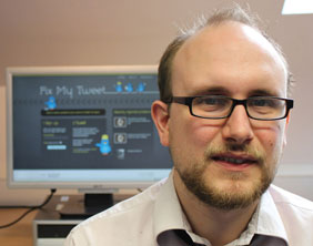 Fixmytweet project leader Stuart Harrison