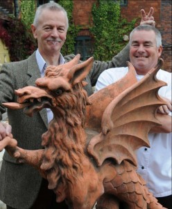 Professor Roland Rotherham with Chef Simon Smith
