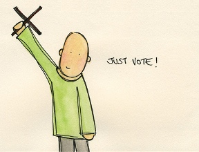 Rachel Groves' Just Vote artwork
