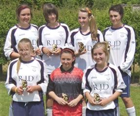 The victorious Lichfield Diamonds U15 side