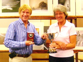Sarah Bradbury receives her award from Michael Fabricant MP