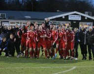 Chasetown celebrate their win. Pic: Dave Birt