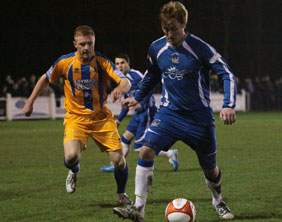 Ben Jevons gets the ball under control. Pic: Dave Birt