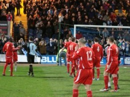 Chasetown FC's players received a standing ovation from their supporters. Pic: Dave Birt