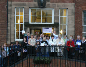 Groups celebrating the Burntwood Community Chest funding