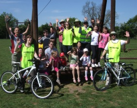 The Cycle Rides For All stops off in Whittington on a recent ride