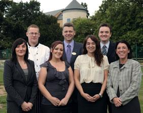 The new Drayton Manor Hotel senior management team