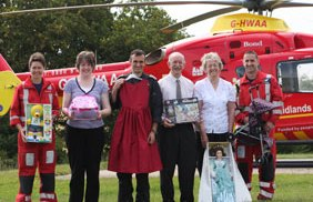 Midlands Air Ambulance staff and volunteers