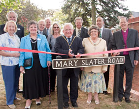 The official opening of Mary Slater Road