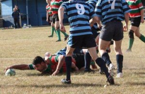 Action from Shrewsbury RUFC v Burntwood RUFC. Pic: Joanne Gough