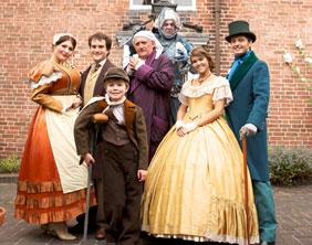 The cast of A Christmas Carol