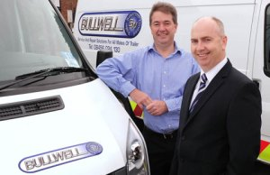 Bullwell Trailer Solutions financial director Kevin Tomlinson with managing director Gary Bulley
